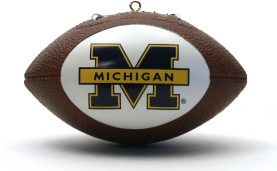 Michigan Wolverines Ornaments Football