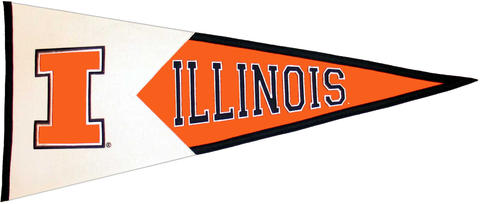 Illinois Fighting Illini NCAA Pennant Wool