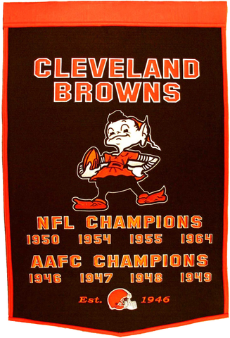 Cleveland Browns Banner Wool Dynasty