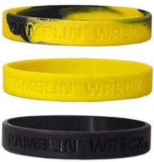 Georgia Tech Yellow Jackets Rubber Wristbands 3 Pack