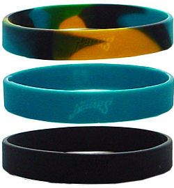 Jacksonville Jaguars Rubber Wristbands 3 Pack