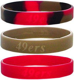 San Francisco 49ers Rubber Wristbands 3 Pack