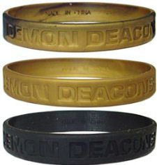 Wake Forest Demon Deacons Rubber Wristbands 3 Pack