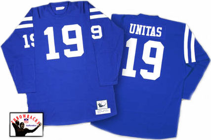 Indianapolis Colts Johnny Unitas 1970 Dark Jersey - 44 (L)