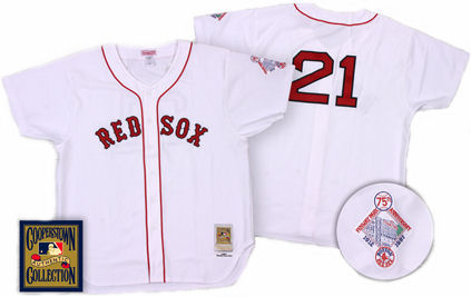Boston Red Sox Roger Clemens 1987 Home Jersey - 46 (L)