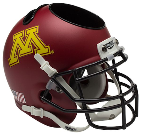 Minnesota Golden Gophers Miniature Football Helmet Desk Caddy <B>Matte</B>