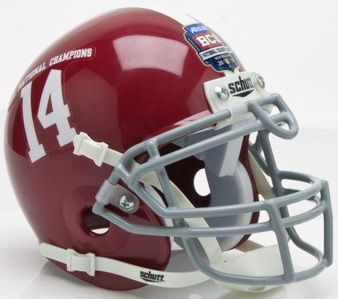 Alabama Crimson Tide 2011 BCS National Champions Mini XP Authentic Helmet Schutt