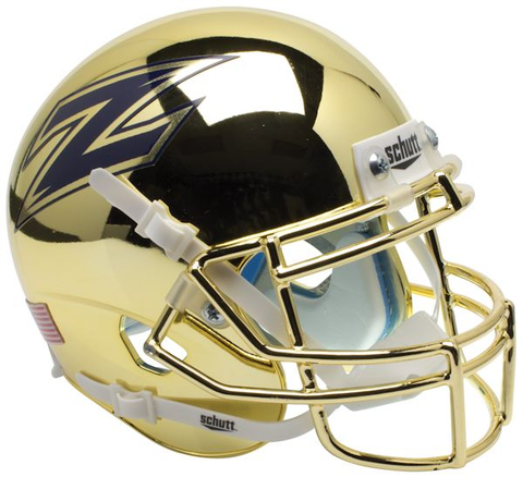 Akron Zips Mini XP Authentic Helmet Schutt <B>Chrome</B>