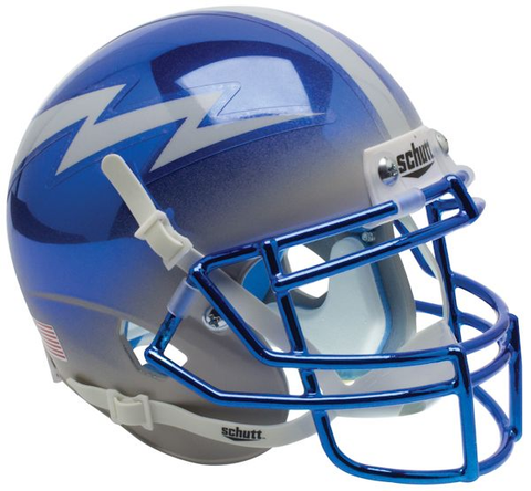 Air Force Falcons Mini XP Authentic Helmet Schutt <B>Chrome</B>