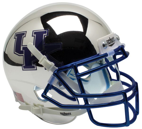 Kentucky Wildcats Mini XP Authentic Helmet Schutt <B>Chrome Silver</B>