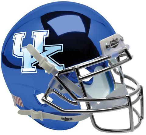 Kentucky Wildcats Mini XP Authentic Helmet Schutt <B>Chrome Blue</B>
