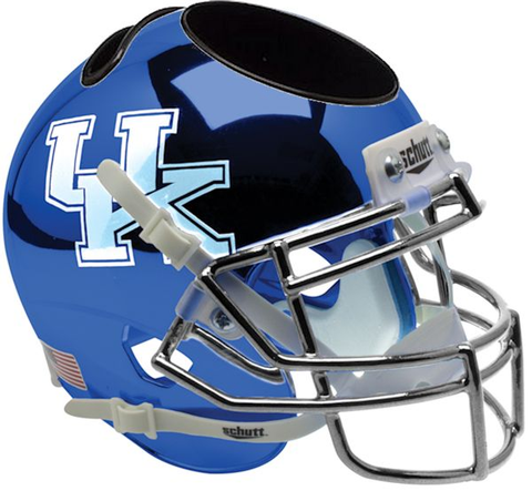 Kentucky Wildcats Miniature Football Helmet Desk Caddy <B>Chrome Blue</B>