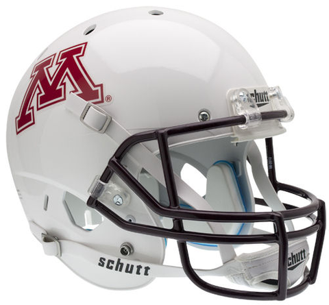 Minnesota Golden Gophers Full XP Replica Football Helmet Schutt <B>White</B>