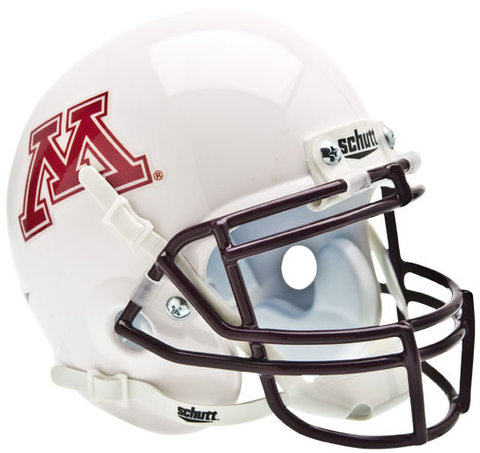 Minnesota Golden Gophers Mini XP Authentic Helmet Schutt <B>White</B>