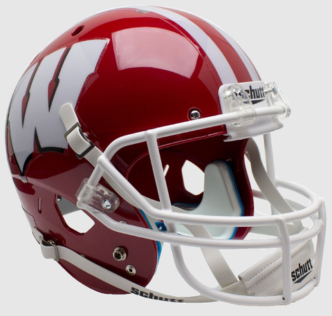 Wisconsin Badgers Full XP Replica Football Helmet Schutt <B>Scarlet</B>