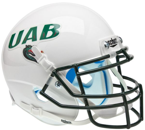Alabama-Birmingham (UAB) Blazers Mini XP Authentic Helmet Schutt <B>White</B>