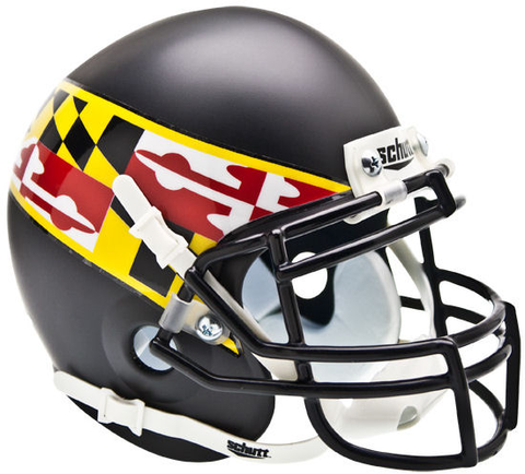 Maryland Terrapins Mini XP Authentic Helmet Schutt <B>Black Wing</B>