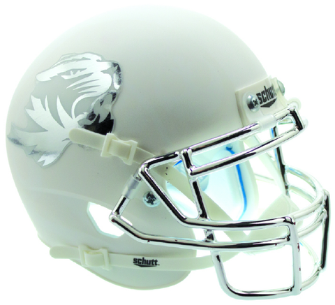 Missouri Tigers Miniature Football Helmet Desk Caddy <B>Matte White</B>