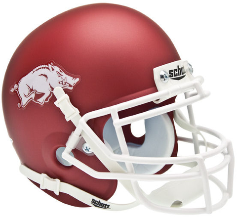 Arkansas Razorbacks Mini XP Authentic Helmet Schutt <b>Matte Crimson</b>