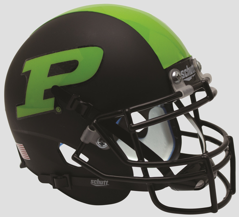 Purdue Boilermakers Mini XP Authentic Helmet Schutt <B>Green Stripe</B>