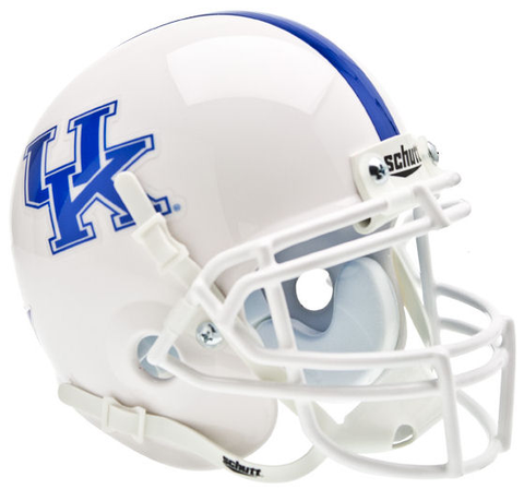 Kentucky Wildcats Mini XP Authentic Helmet Schutt <B>White</B>