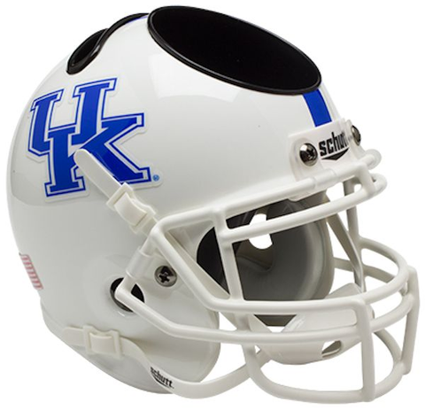 Kentucky Wildcats Miniature Football Helmet Desk Caddy <B>White</B>