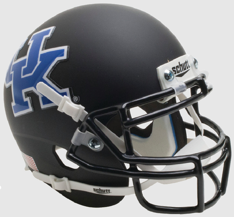 Kentucky Wildcats Mini XP Authentic Helmet Schutt <B>Matte Black</B>