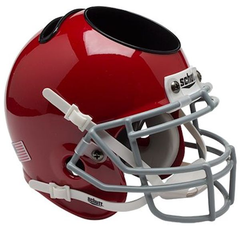 Ohio State Buckeyes Miniature Football Helmet Desk Caddy <B>Scarlet</B>