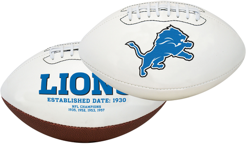 Detroit Lions NFL Signature Series Full Size Football