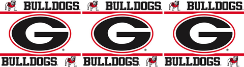 Georgia Bulldogs Wallpaper Border