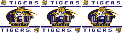 LSU Tigers Wallpaper Border <B>4 Left</B>