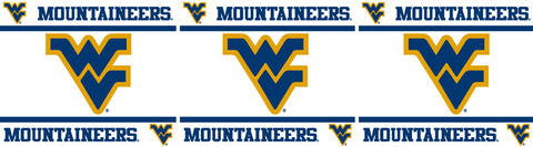 West Virginia Mountaineers Wallpaper Border