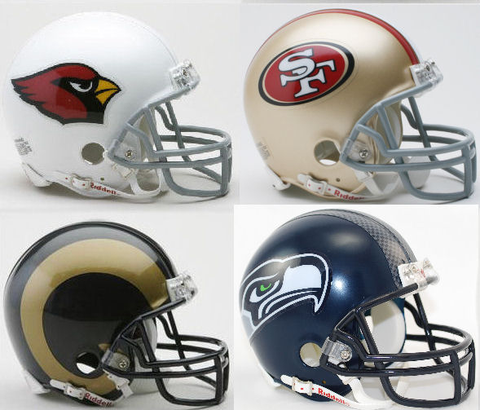 Arizona Cardinals, San Francisco 49ers, St Louis Rams, Seattle Seahawks NFC West Division