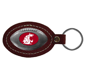 Washington State Cougars Leather Key Chain