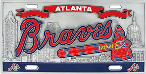 Atlanta Braves License Plate 3D