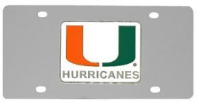 Miami Hurricanes Logo License Plate