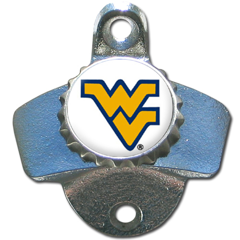 West Virginia Mountaineers Wall Mounted Bottle Opener