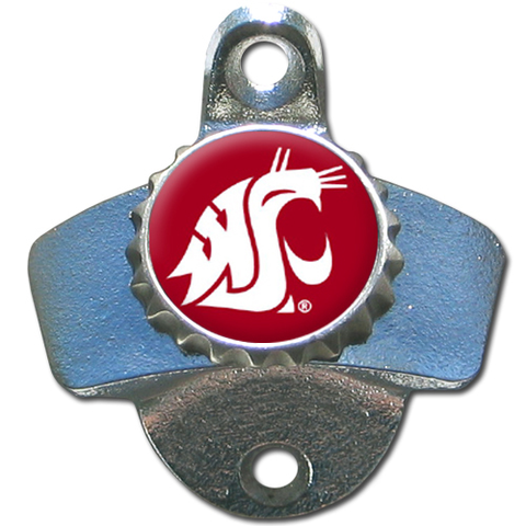 Washington State Cougars Wall Mounted Bottle Opener