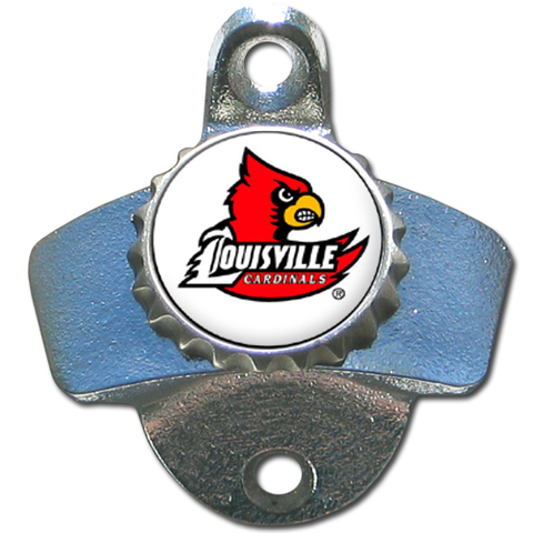 Louisville Cardinals Wall Mounted Bottle Opener