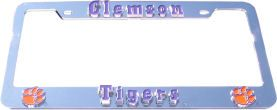 Clemson Tigers License Plate Frame 3D