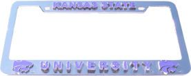 Kansas State Wildcats License Plate Frame 3D
