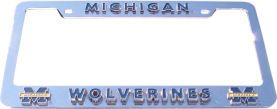 Michigan Wolverines License Plate Frame 3D