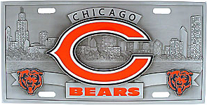 Chicago Bears License Plate 3D