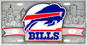 Buffalo Bills License Plate 3D <B>BLOWOUT SALE</B>
