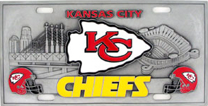 Kansas City Chiefs License Plate 3D