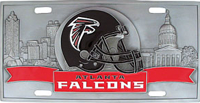 Atlanta Falcons License Plate 3D