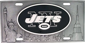 New York Jets License Plate 3D