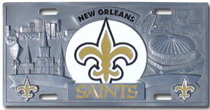 New Orleans Saints License Plate 3D