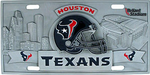 Houston Texans License Plate 3D