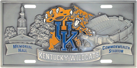 Kentucky Wildcats License Plate 3D